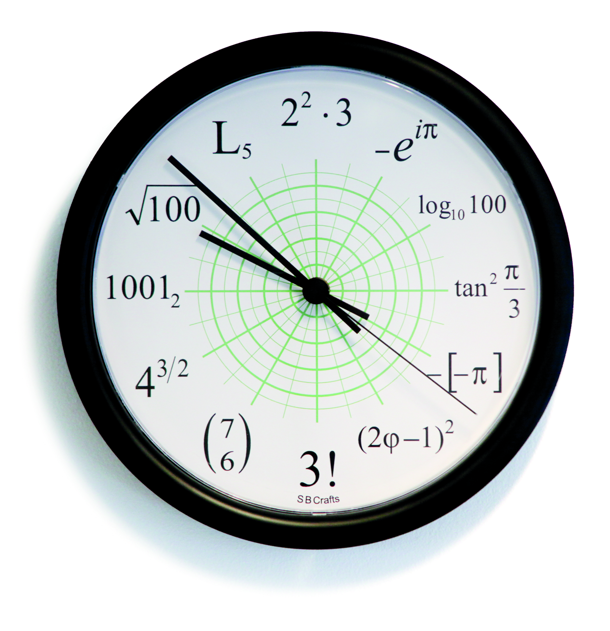 Math clock three times three - simple &amp- beautyful | Zazzle.co.uk