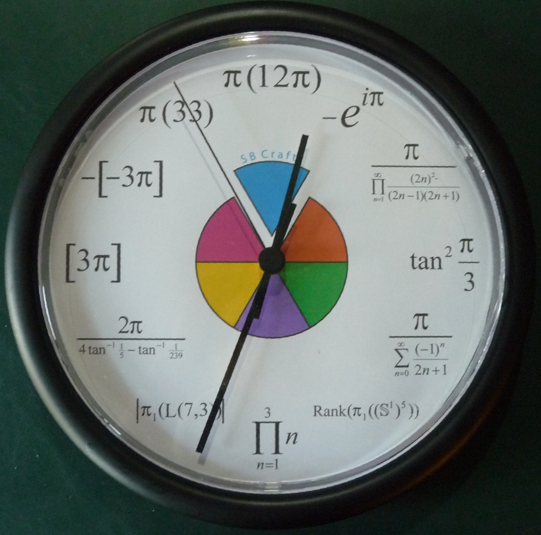 Math Clock Timelike Unique Wall Clock Modern Design Novelty Maths ...